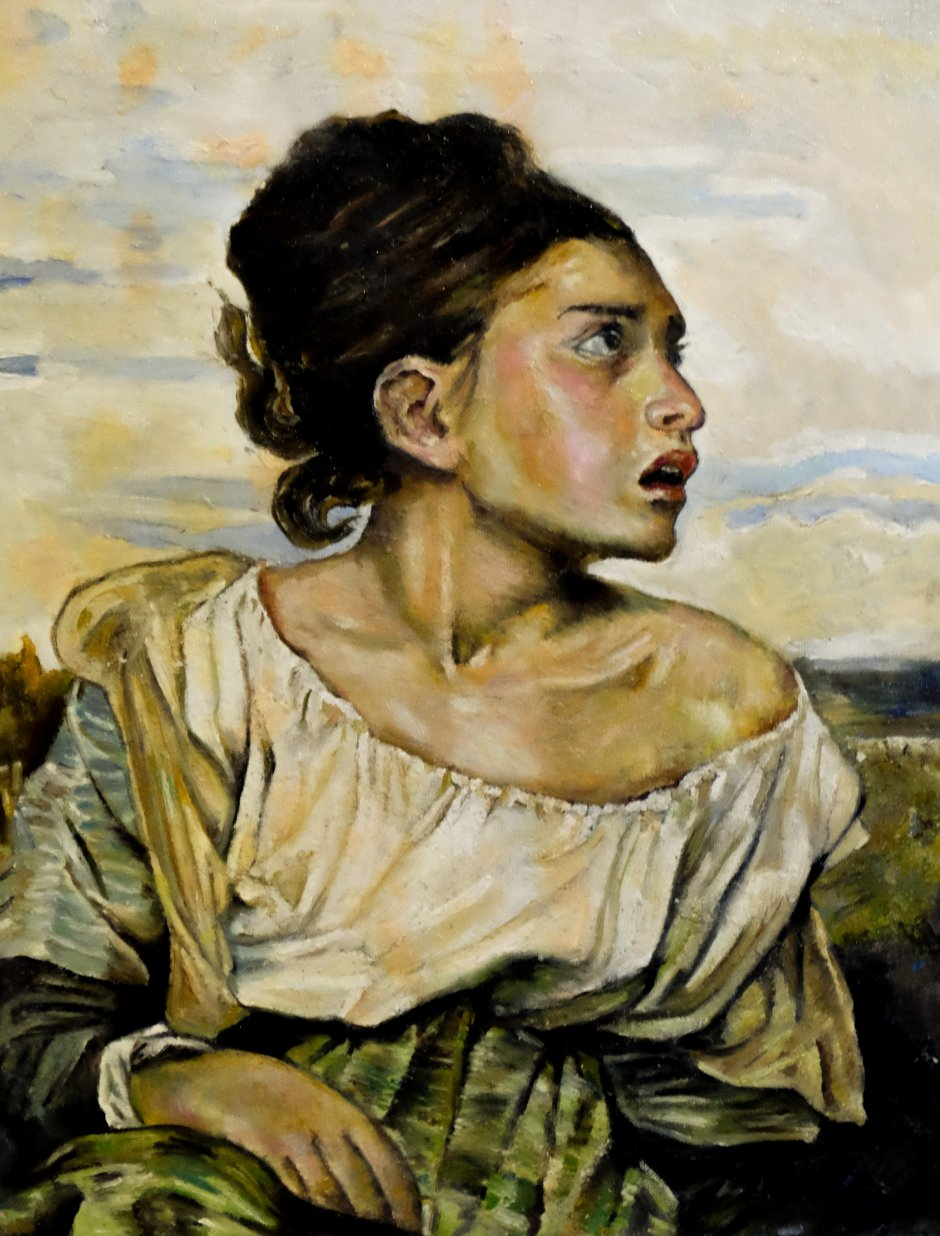 Crying girl after Eugene Delacroix
